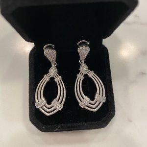 Judith Ripka Silver Diamonique Earrings